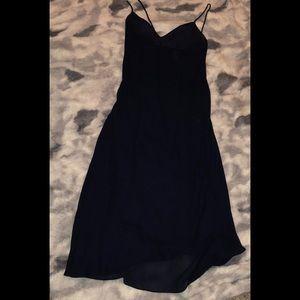 Floor length navy dress Ralph Lauren 12